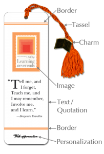 Personalized Education Bookmark Example