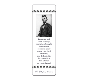 Custom Lincoln Bookmark Example