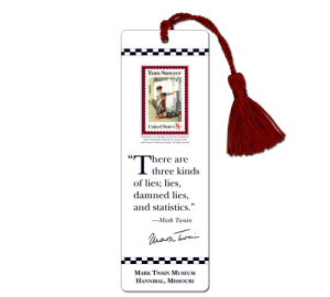 Custom Mark Twain Bookmark