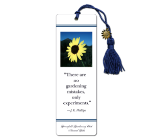 Custom Gardening Bookmark Example