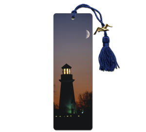 Custom Printed LIghthouse Bookmark Example