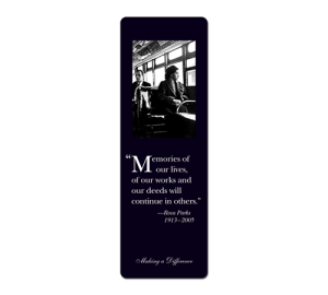 Rosa Parks Personalized Bookmark Example