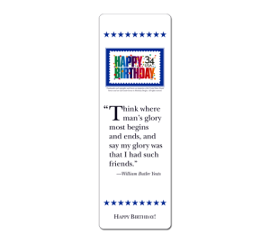 Personalized Birthday Bookmark Example