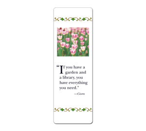 Custom Garden Flowers Bookmark Example