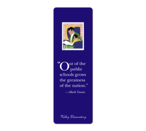 Custom School/Education Bookmark Example
