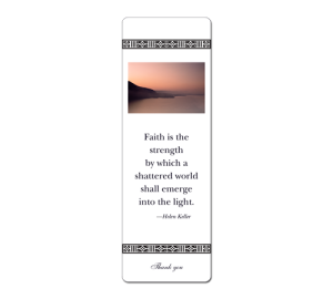 custom photo bookmarks - sunset