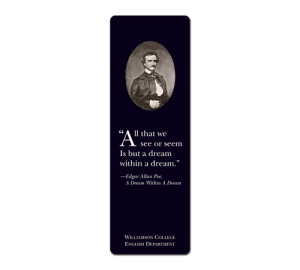 Edgar Allan Poe Customized Bookmark Example