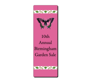 Custom bookmark - Pink Butterfly