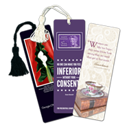 Custom Laminated Bookmarks with tassels, other custom bookmark styles