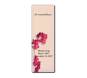 Custom Memorial Bookmark