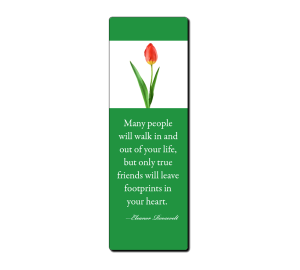 Design your own bookmark online with quote