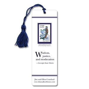 Bookmark with state bird