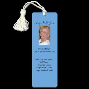 Memorial bookmark - Funeral bookmark
