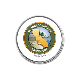 custom domed paperweight with California logo