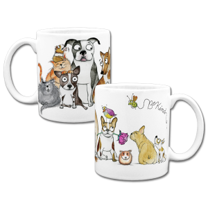 custom coffee mug with dogs