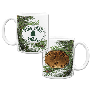 Made in USA Mug with pine tree design