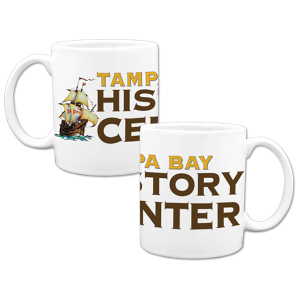 Tampa Bay History Center logo mug for museum store