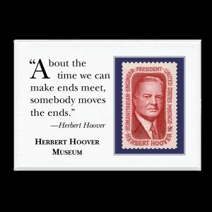 Herbert Hoover quote magnet