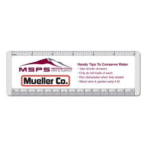 Logo on custom ruler