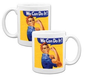 Made in USA Rosie the Riveter Coffee Mug example