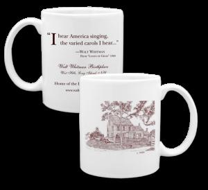 Custom Coffee Mug with lineart drawing for museum