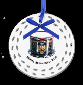 Drum image on custom Christmas ornament