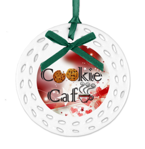 Business Logo on personalized Christmas ornament