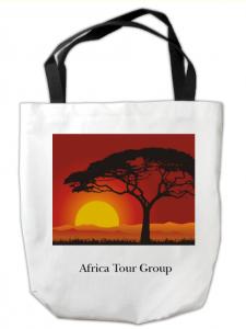 Tree with sun custom tote bag