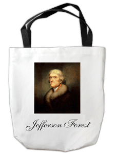 Custom Tote Bag with Jefferson