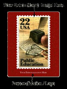Public Education stamp on Custom jigsaw puzzle