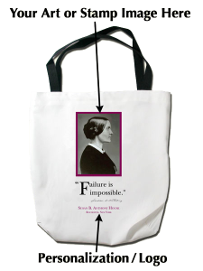 Custom Tote Bag showing options for image and text