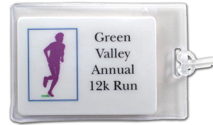 12k run example Custom Luggage Tag