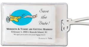Save the Date wedding Luggage Tag