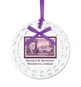 FDR postage stamp personalized Ceramic Christmas Ornament Example