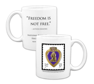 Custom Printed Purple Heart Coffee Cup Example