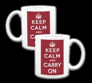 Keep Calm and Carry On Coffee Mug Example