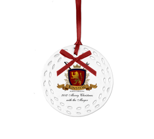 Personalized ceramic ornament Example