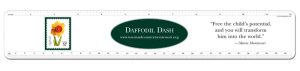 Daffodil personalized ruler