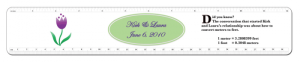 Wedding favor personalized ruler