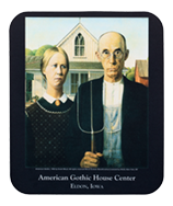 American Gothic custom mousepad - personalized with museum name