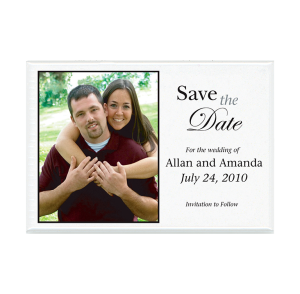 Custom Magnet - Wedding Save the Date with smiling couple