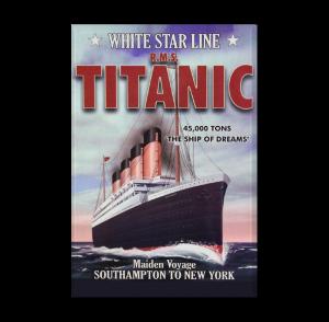 Custom Refrigerator Magnet - Titanic Exhibit poster