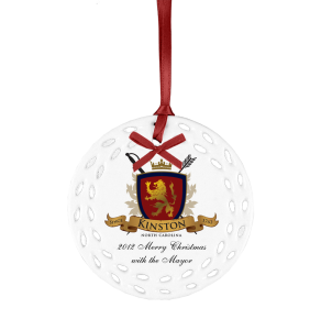 Custom Ceramic Ornament with logo