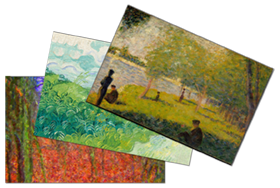 Custom Postcards with impressionistic paintings