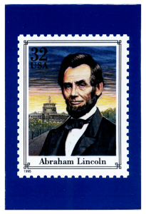 Lincoln stamp custom postcard