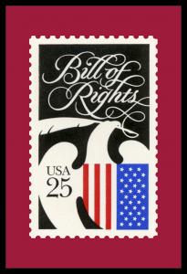 Bill of Rights stamp custom postcard