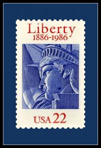 Liberty stamp custom postcard