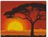 Custom Printed Jigsaw Puzzle with setting sun