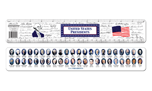 Presidents Ruler with signatures and all presidents personalized