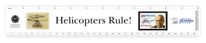 Helicopter museum custom ruler